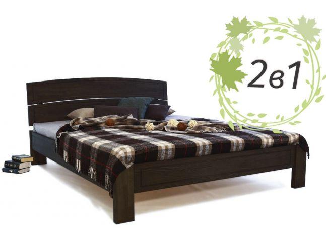 Двуспальная деревянная кровать Жасмин и ортопедический матрас Comfortt Cloud (2 в 1)