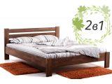 Двоспальне дерев'яне ліжко Сільвана та ортопедичний матрац Care Cloud (2 в 1).