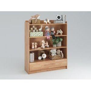 Стеллажи для игрушек и книг из дерева в детскую комнату