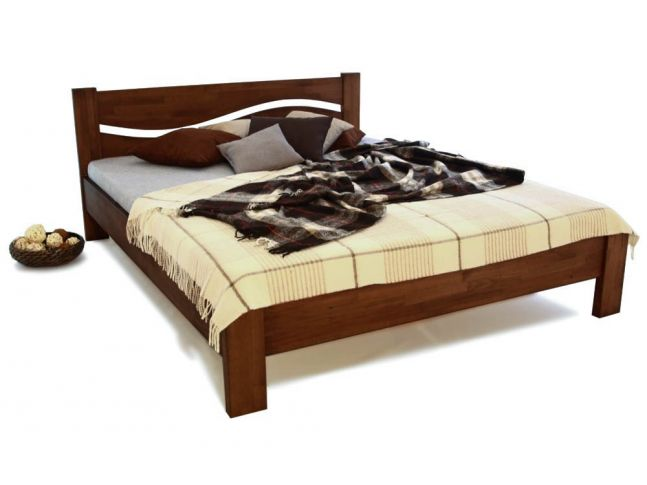 Ліжко Венеція бук полуторне горіх зрощене 1400 х 2000