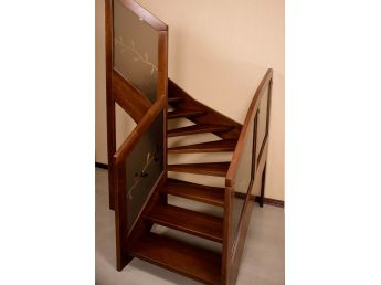 Лестница Модерн Гласс 020 общий вид